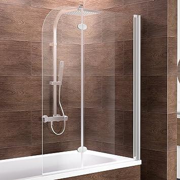 Schulte Mampara de bañera adhesivos para cristal (2 piezas, 140 x ...