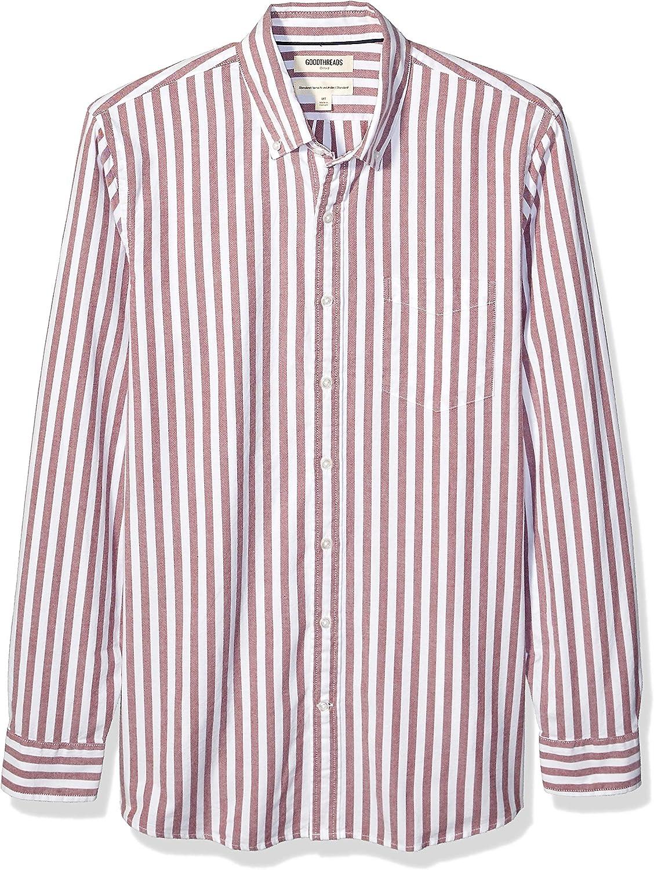 Goodthreads Standard-Fit Long-Sleeve Fashion Stripe Oxford Shirt Uomo