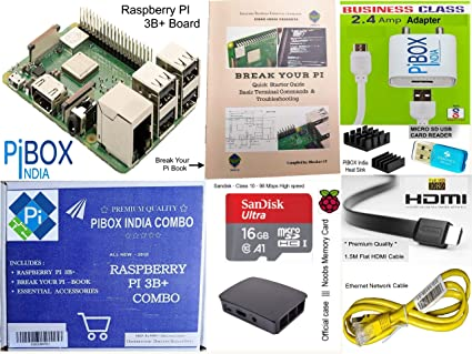 db5b53bd28c Amazon.in: Buy Raspberry Pi 3B+/3B Plus Motherboard Combo - PiBOX India  Variation (PiBOX - Essential Combo Black 3215BK) Online at Low Prices in  India ...