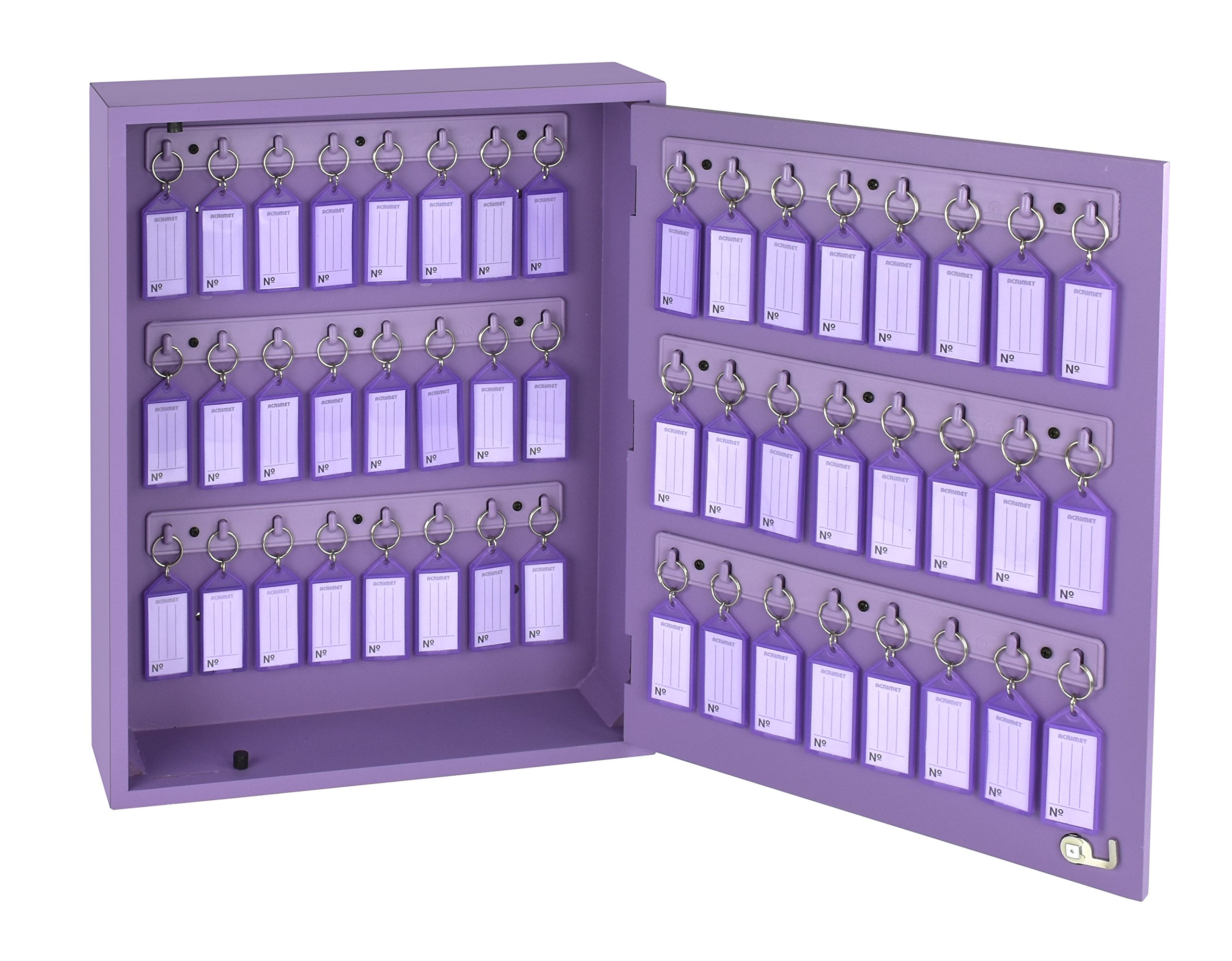 Acrimet Key Cabinet 48 Positions with 48 Key Tags (Purple Color)