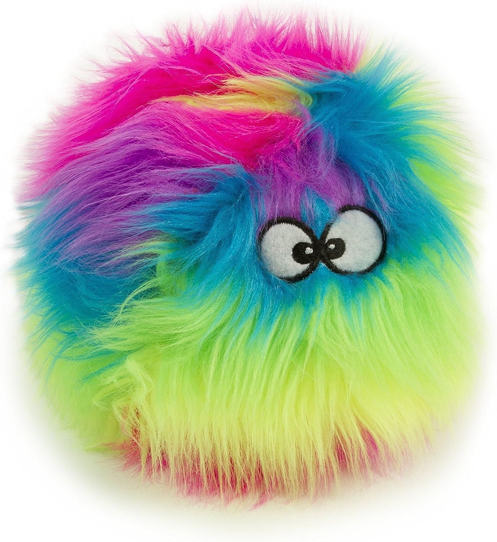GoDog Furballz Chew Guard Squeaky Plush Dog Toy