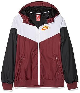 1400f627fb03 Nike Jungen B NSW Windrunner Jacket HD Trainingsjacke, Team rot Weiß  Schwarz