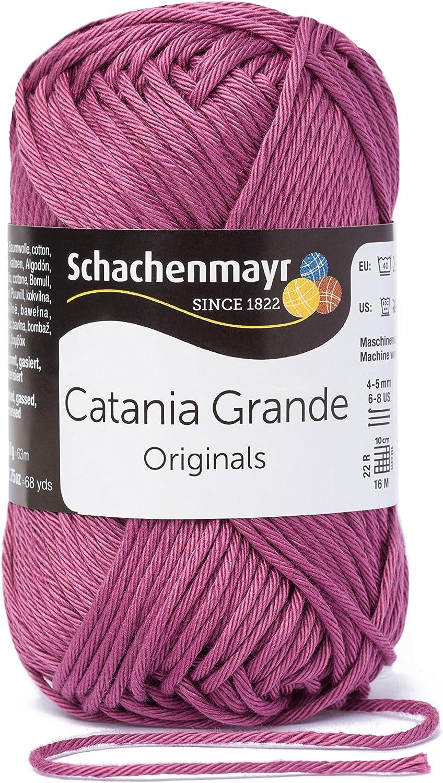 Schachenmayr Catania fine 9807331/ Filato per Uncinetto Cotone /03380/Amaranto Mano Filati per Maglieria