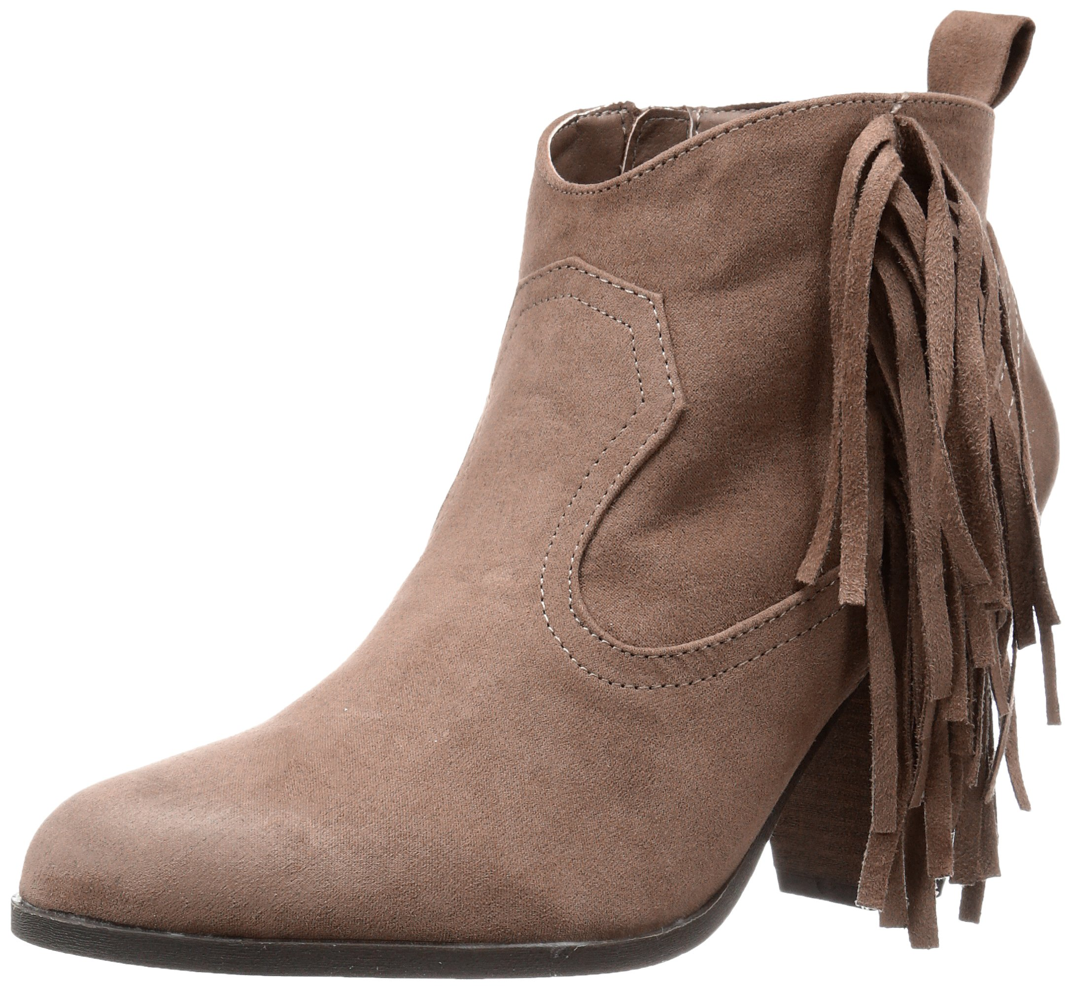 Qupid Women's Nixon-01 Ankle Bootie, Taupe, 6.5 M US