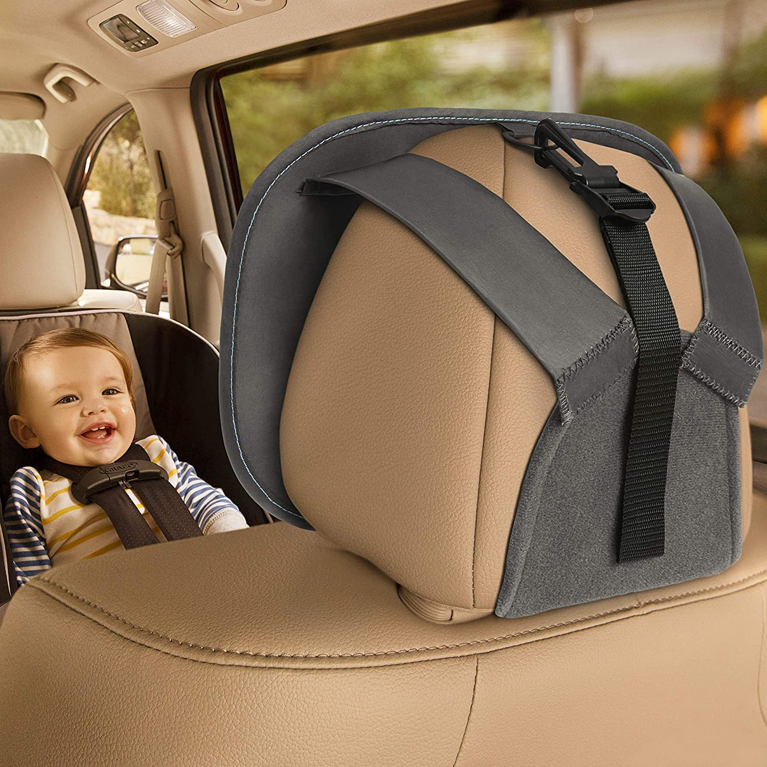 Grey Munchkin BRICA Baby In-Sight Auto Mirror for in Car Safety