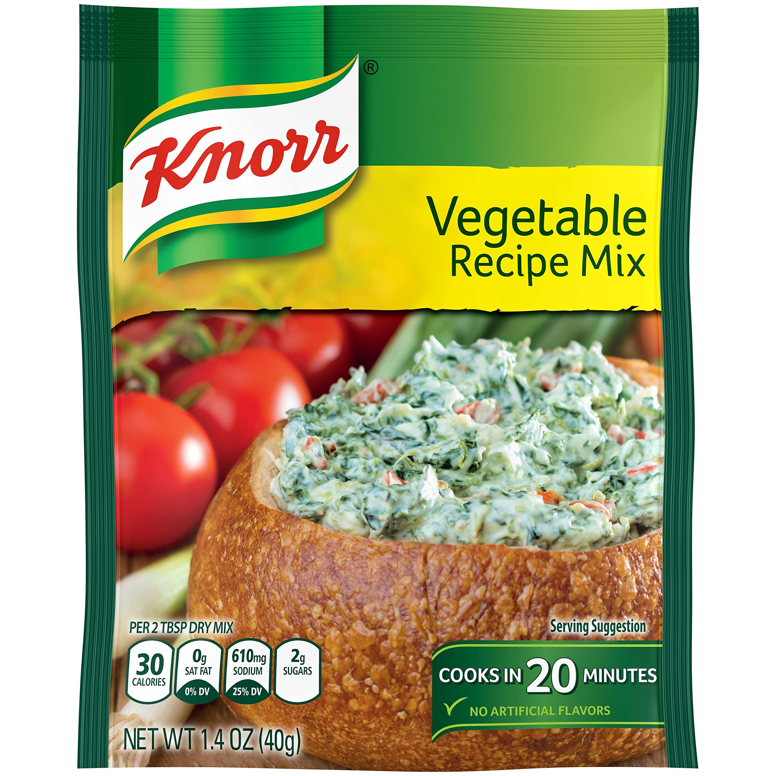 Knorr Recipe Mix, Vegetable, 1.4 oz (Pack Of 12)