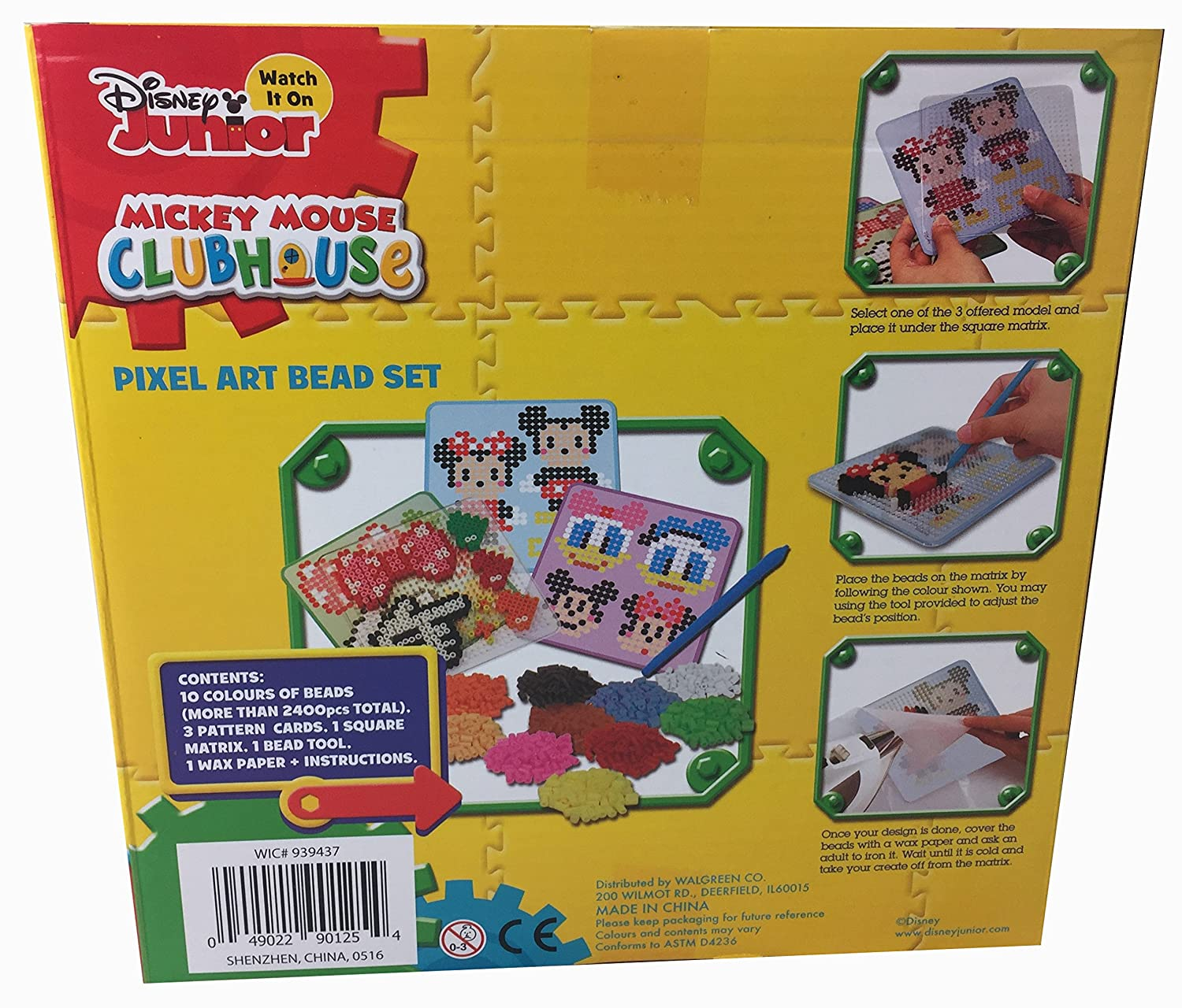 Amazon.com: Disney Junior Mickey Mouse Clubhouse Pixel Art Beads ...
