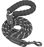 iYoShop 6 FT Strong Dog Leash with Comfortable Padded Handle and Highly Reflective Threads Dog Leashes for Medium and…