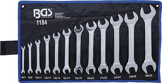 BGS Doppel Ringschlüssel Satz 12-tlg gekröpft Schraubenschlüssel 6-32 mm Tasche