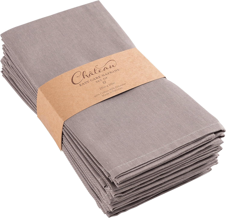 The Napkins Single use Cloth Feel like Napkin Carlstitch Guest Set of 15 Taupe