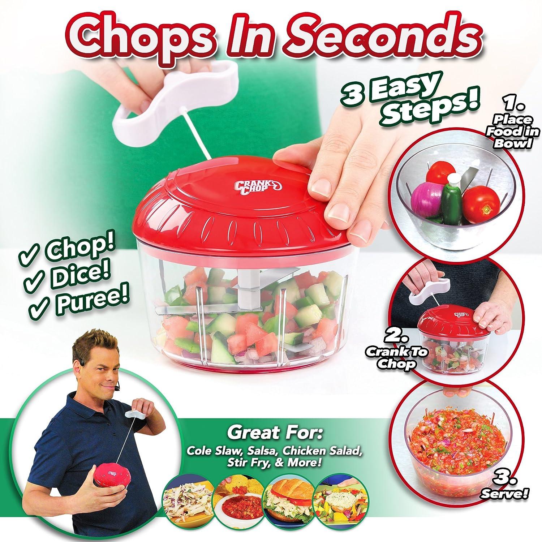 Food Processor As Seen On Tv ~ Crank chop original food manual chopper pull string