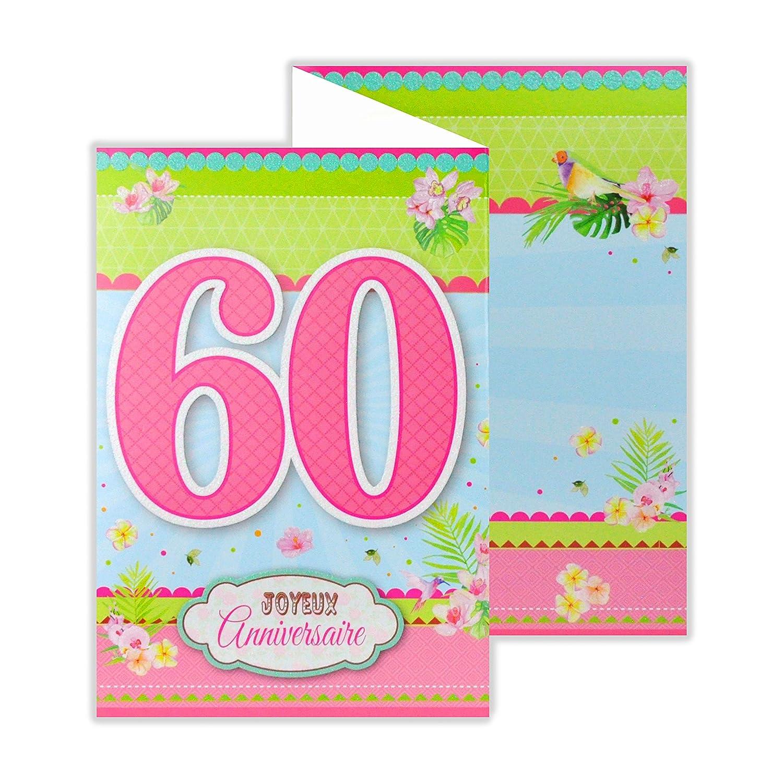 afie 882137 a tarjeta 3 Volets cumpleaños 60 años: Amazon.es ...