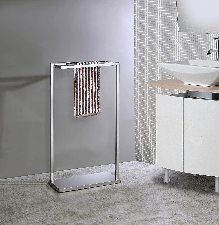Kings Brand Furniture - Hamilton Metal Freestanding Towel Rack Stand, Chrome