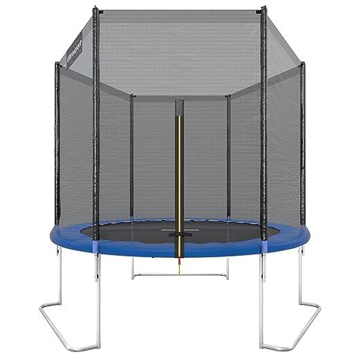 487 opinioni per Ultrasport Trampolino da Giardino Jumper, Inclusa Rete di Sicurezza, Blu, 180 cm