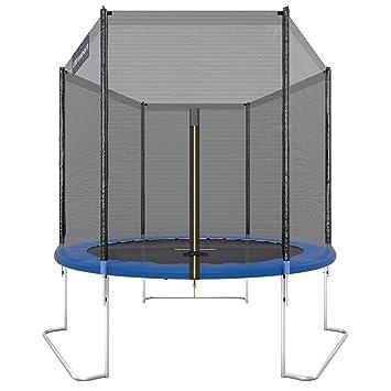 Ultrasport Cama elástica de jardín Jumper, set de trampolin, incluye superficie de salto, red de seguridad, postes acolchados para la red y ...