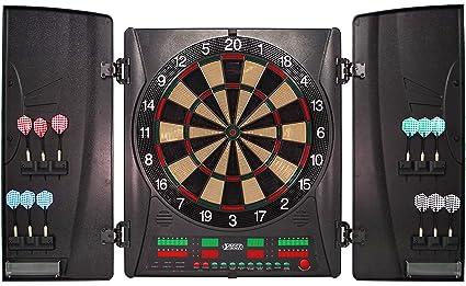 Best Sporting elektronische Dartscheibe Coventry mit 12 Dartpfeilen Ersatzspitzen und Netzadapter