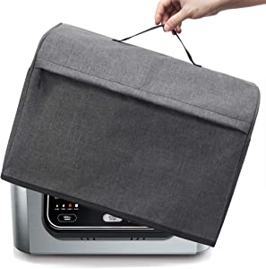 BGD-DG Dust Cover with Pockets Compatible with Ninja Foodi Pro 5-in-1 Indoor Grill & Ninja Foodi 5-in-1 Indoor Grill, Machine Washable, Dark Gray (Updated Version)