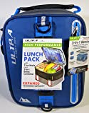 Expandable Lunch Pack Ultra Arctic Zone Bento Containers 2 Ice Packs Blue Black