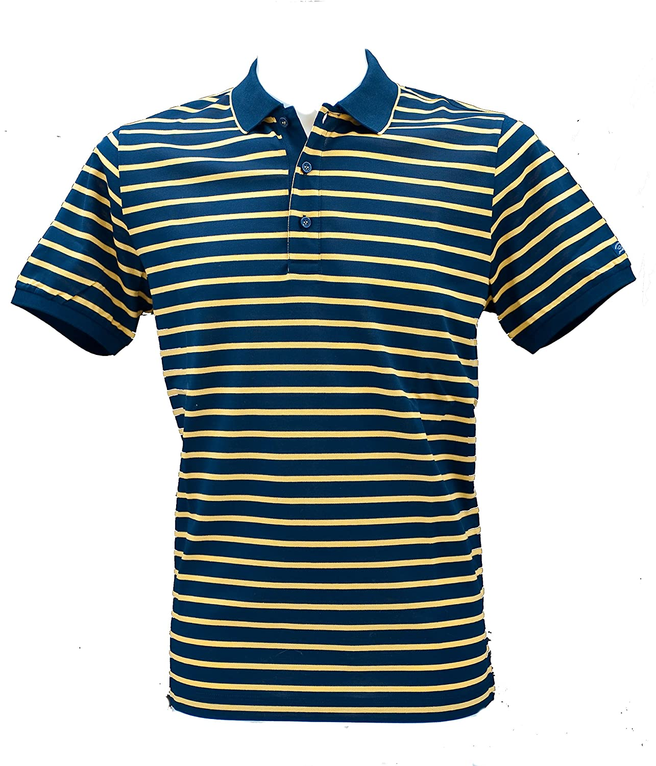PAUL & SHARK Polo Slim Fit BLU Righe Gialle M: Amazon.es: Ropa y ...