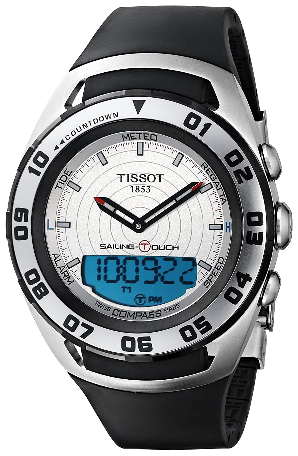 Tissot Men s Sailing-Touch Silver Face Multi-Function Watch T056.420.27.031.00