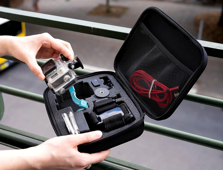 GoPro Hero Black 8 7 6 5 4 3+ 3 // Xiaomi Yi 4K Portable Koffer Case f/ür z.B MyGadget Tragetasche Gr/ö/ße L Transport Schutz Tasche f/ür Actionkamera /& Zubeh/ör