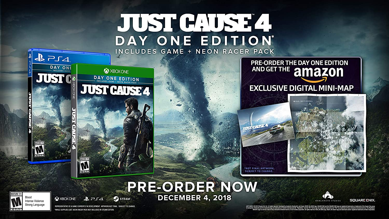 Amazon Com Just Cause 4 Playstation 4 Square Enix Llc Video Games