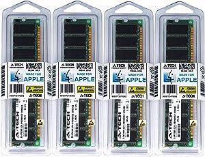 A-Tech for Apple 4GB Kit 4X 1GB PC3200 400MHz Power Mac G5 Mid 2004 Late 2004 Early 2005 M9454LL/A A1047 M9555LL/A A1093 M9747LL/A Memory RAM