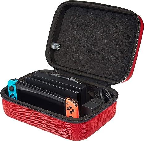 AmazonBasics - Funda de viaje y almacenamiento de juegos, para Nintendo Switch - Rojo: Amazon.es: Videojuegos