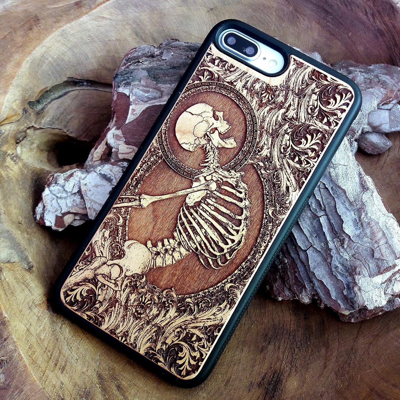 Samsung Galaxy S9 S10 S20 Ultra NOTE 9 10 Case Unique Phone Design Skeleton Anatomy Art Wood iPhone 11 PRO MAX XS XR X 8 7 PLUS
