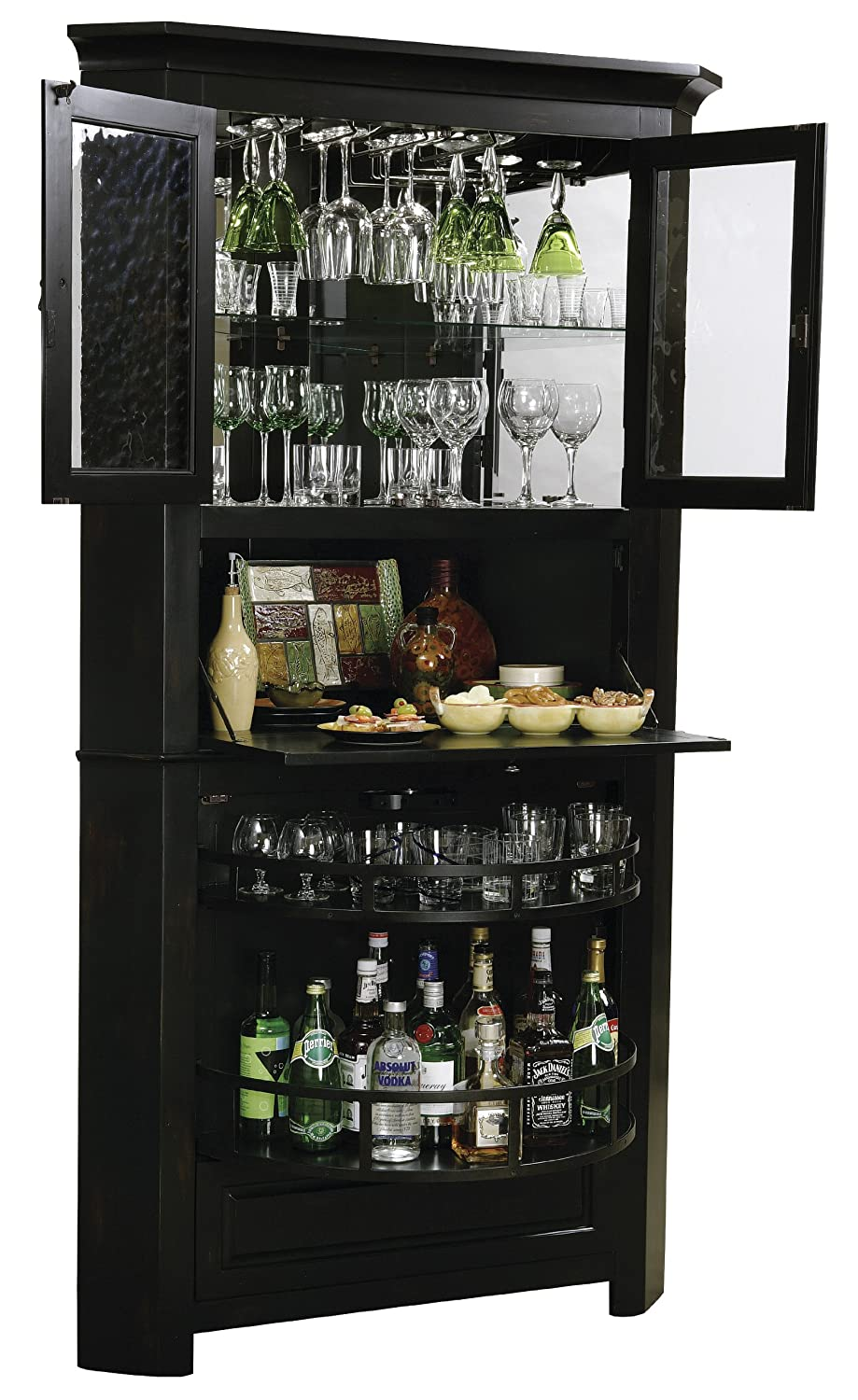 Amazon.com: Howard Miller 695 082 Cornerstone Estates Corner Wine Cabinet:  Kitchen U0026 Dining