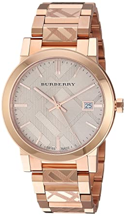 f2af7cf4438ff1 Image Unavailable. Image not available for. Color: Burberry Rose Gold-Tone  Dial Stainless Steel Quartz Ladies Watch BU9039