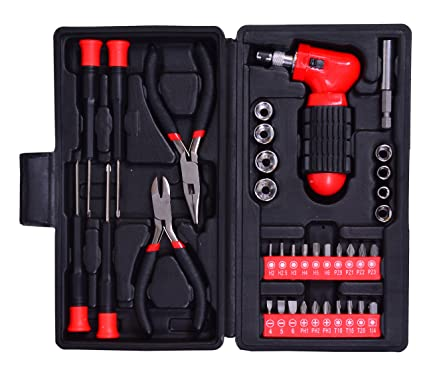 Visko ST9254 Hand Tool Set (Red, 37-Pieces)