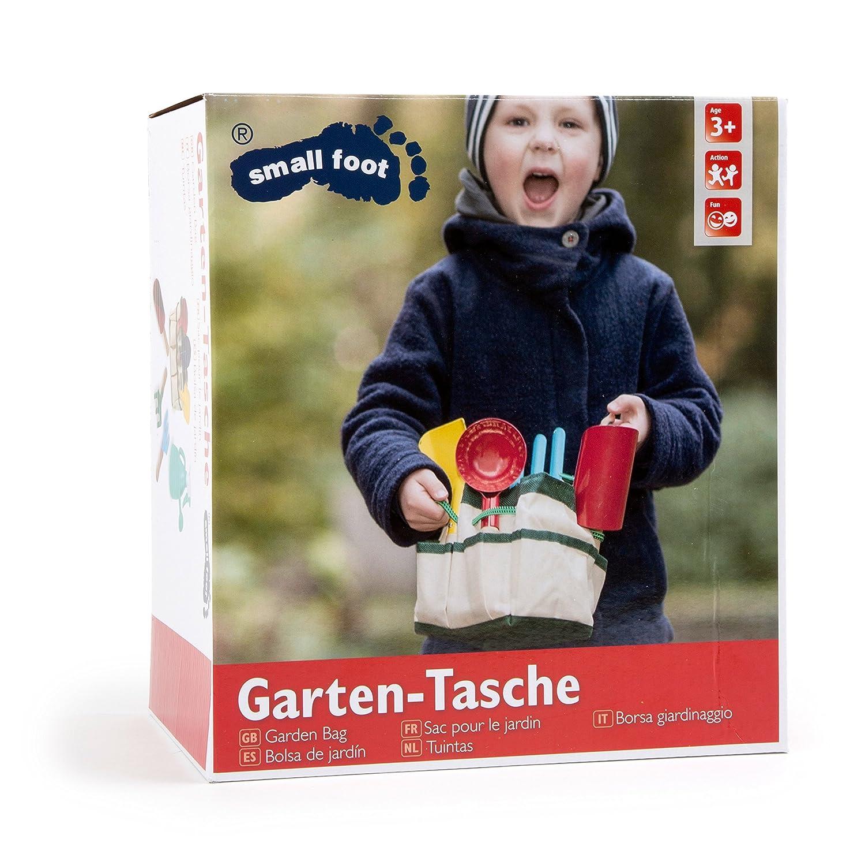 Buntes Gartenspielzeug / Strandspielzeug inkl. praktischer Tragetasche, mit 6 Gartenwerkzeugen sowie 1 Gießkanne (inkl. Sprühkopf und praktischem Tragegriff), für Kinder ab 3 Jahren für Kinder ab 3 Jahren small-foot-design 1710 B00074U7VQ