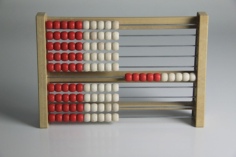 Rechenrahmen 100er Zahlenraum, aus RE-Wood, rot/weiß rot/weiß Wissner GmbH