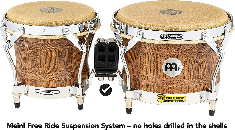 serie Free Ride 8,5 7 diametro macho: 17,78 cm diametro hembra: 21,59 cm Meinl Percussion FWB400BB Bonghi in legno colore: Brown Burl