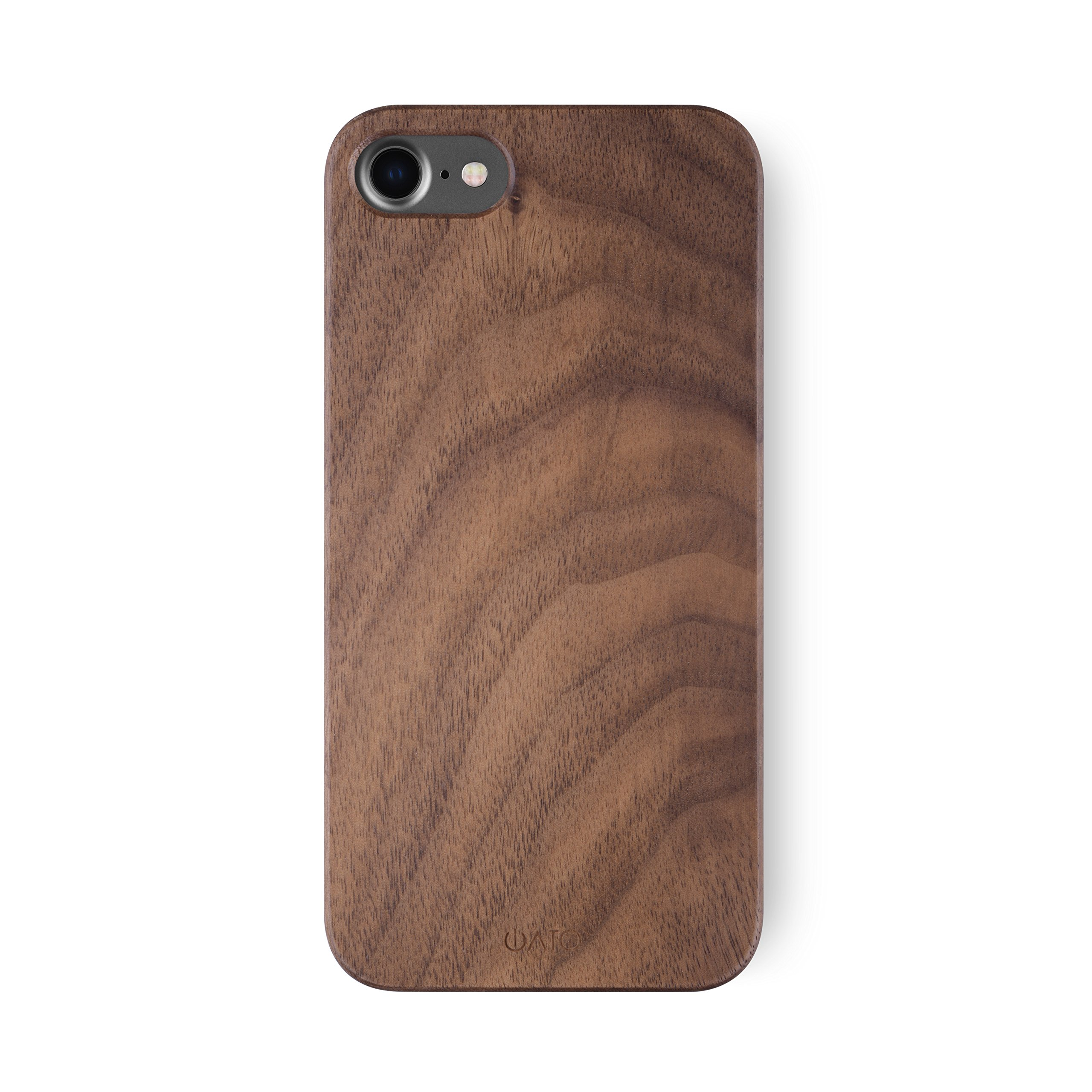 iATO iPhone 7/8 Case. Real Walnut Wood Bumper Unique, Stylish & Classy Wooden Premium Protective Accessory Snap-on Back Cover for iPhone 7/8