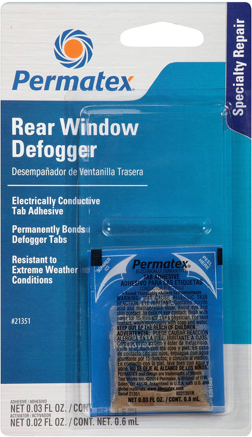 Permatex 21351 Electrically Conductive Rear Window Defogger Tab Adhesive, Single Unit