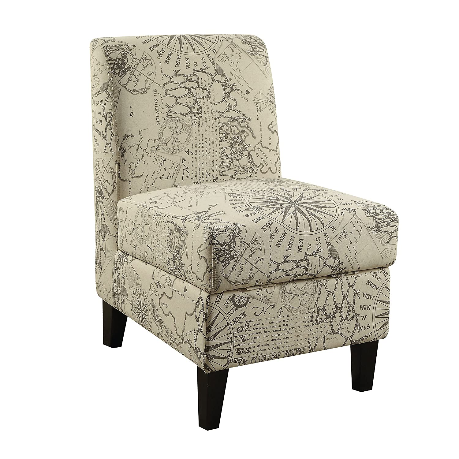 Peachy Amazon Com Acme Furniture 59617 Ollano Ii Map Accent Chair Gmtry Best Dining Table And Chair Ideas Images Gmtryco