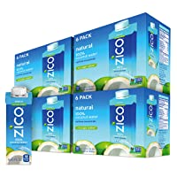 ZICO Premium Natural Coconut Water Drinks, No Sugar Added Gluten Free, 8.45 Fluid...