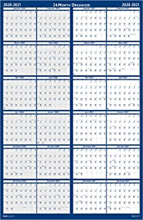 product image for House of Doolittle 2020-2021 2-Year Laminated Reversible Wall Calendar, Horizontal/Vertical, 24 x 37 Inches, January - December (HOD3964-20)