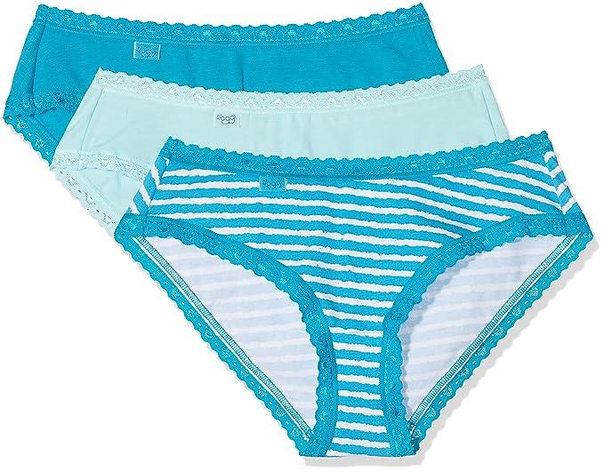 Sloggi Weekend Hip C3p, Braguita para Mujer, (Blue-Light Combination B5)