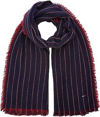 remise pour vente marques reconnues meilleures offres sur Tommy Hilfiger Double Sided Stripes Scarf Echarpe, Bleu Navy/Tommy Red 902,  Unique (Taille Fabricant: OS) Homme