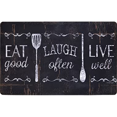 Chef Series 18 x30  Antifatigue Kitchen Mats (Eat, Laugh, Live)