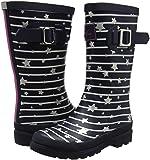 Joules Girls' JNRGIRLSWLY Rain Boot, Navy Star