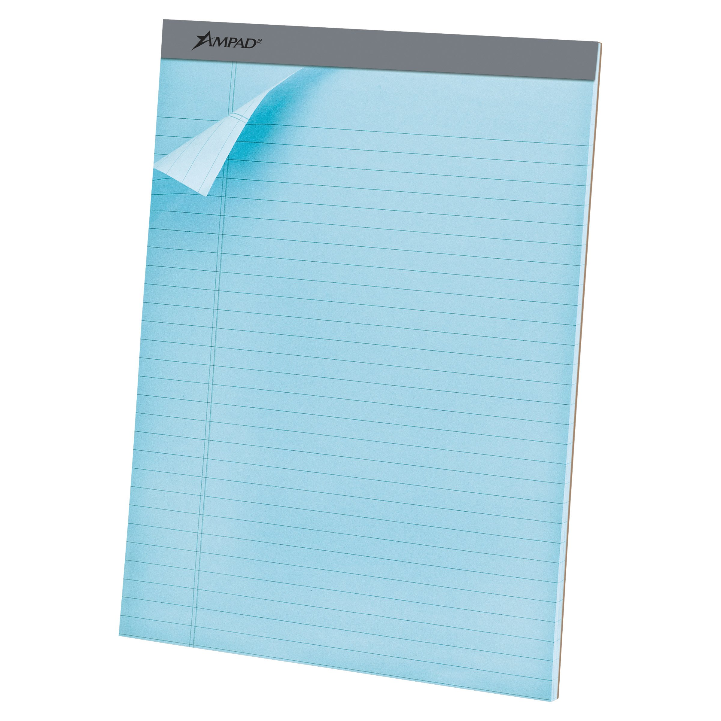 Ampad TOP20670 20-670 Evidence Blue Legal Ruled Pads, 8-1/2 x 11-3/4, 50 Sheets/pad, Dozen