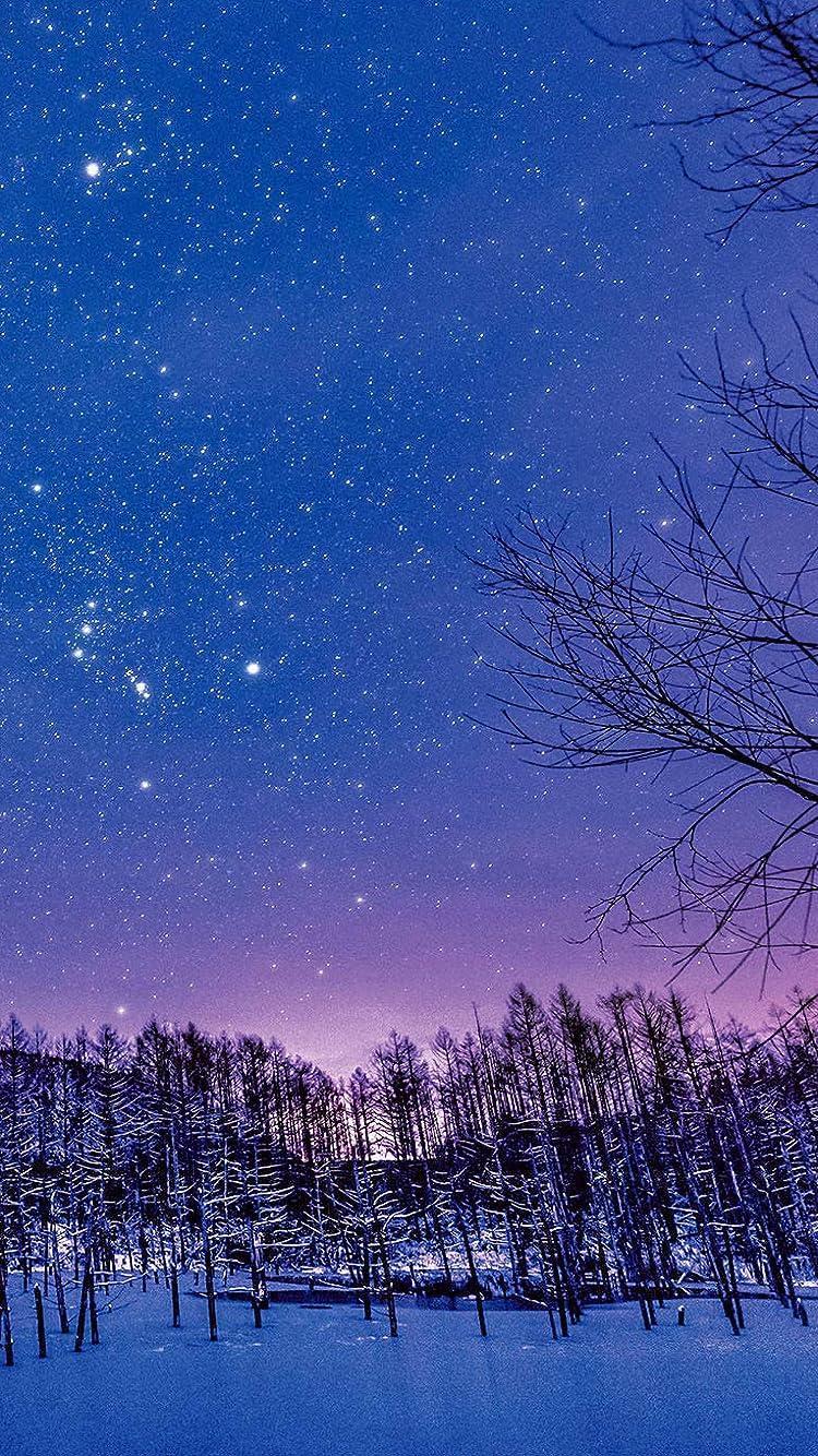 星空 Iphone Se 8 7 6s 750 1334 壁紙 星月夜の 青い池 その他 スマホ用画像