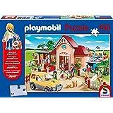 Schmidt Playmobil At the Vet Children's Jigsaw Puzzle and Figure Set (100-Piece)