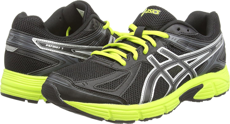 ASICS Patriot 7 - Zapatillas de running para hombre, color negro (black/lime/onyx 9005), talla 48: Amazon.es: Zapatos y complementos