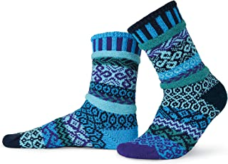 product image for Solmate Socks - Mismatched Crew Socks; Made in USA; Water Large