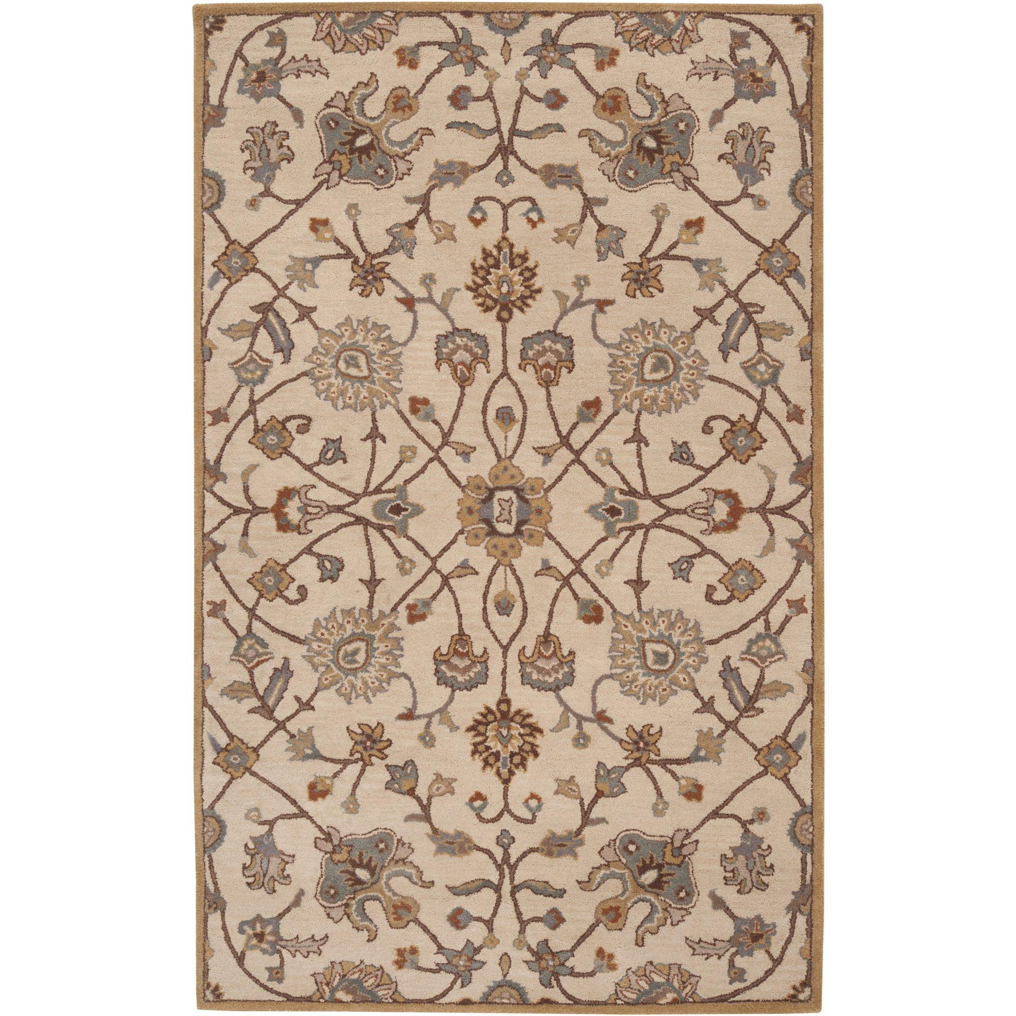 Surya Caesar CAE-1081 Classic Hand Tufted 100% Wool Fatigue Green 2'6'' x 8' Traditional Runner